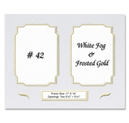 Mat 42 - White Fog / Frosted Gold