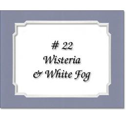 Mat 22 - Wisteria / White Fog