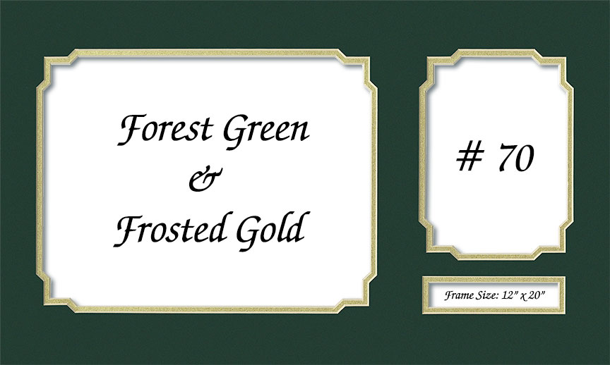 Mat 70 Forest Green Frosted Gold