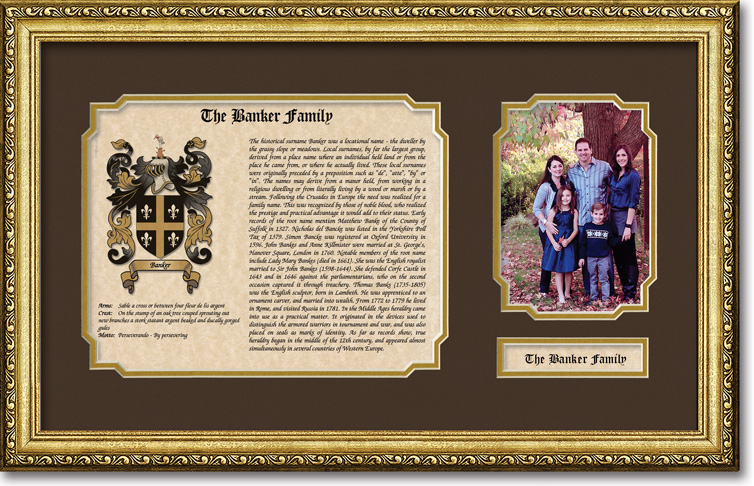 Coat of Arms Sample Gift - 12x20 Frame and Mat