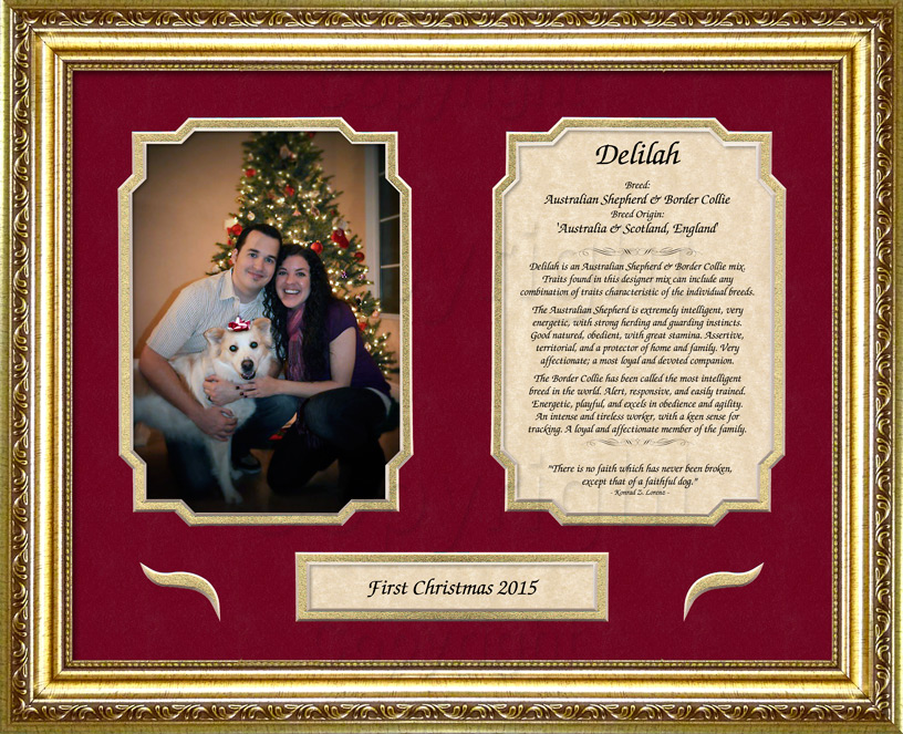 Pets on Art Dog Keepsake - 11x14 frame and mat with photo