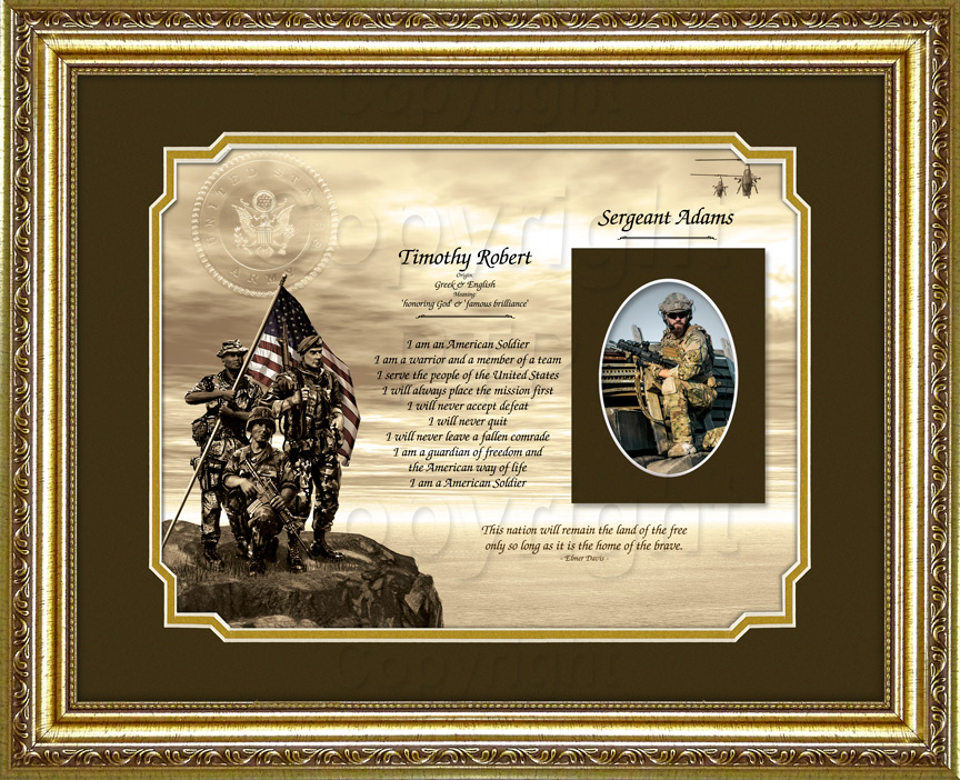 Army Soldiers Keepsake