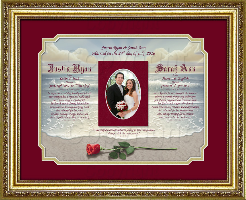 A Beautiful Wedding Keepsake