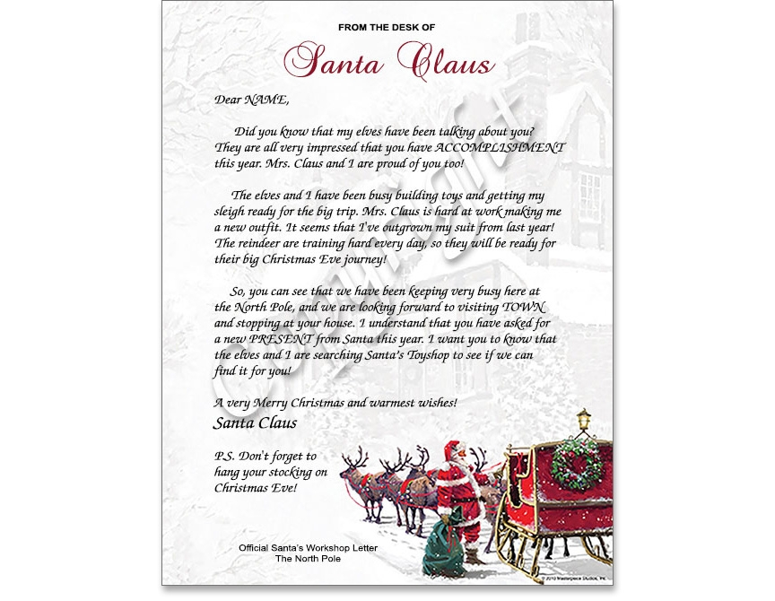 Holiday Letter from Santa