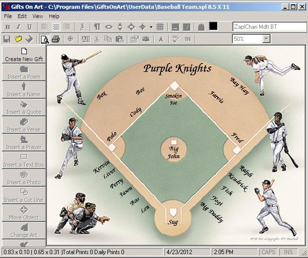 Baseball or Softball team gift