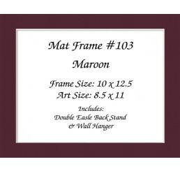 Mat Frame 103 - Maroon