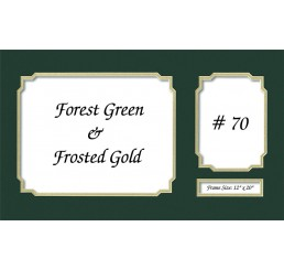 Mat 70  - Forest Green / Frosted Gold