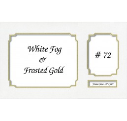 Mat 72 - White Fog / Frosted Gold