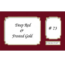Mat 73 - Deep Red / Frosted Gold