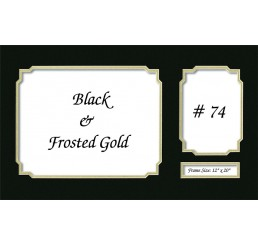 Mat 74 - Black / Frosted Gold