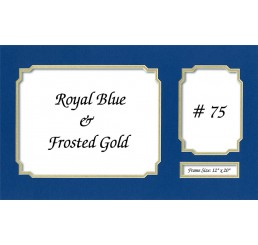 Mat 75 - Royal Blue / Frosted Gold