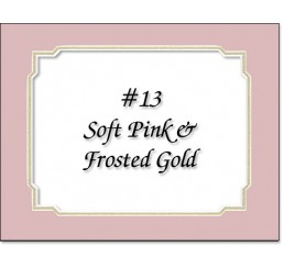 Mat 13 - Soft Pink / Frosted Gold