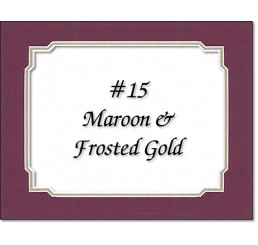 Mat 15 - Maroon / Frosted Gold