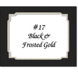 Mat 17 - Black / Frosted Gold