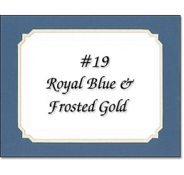 Mat 19 - Royal Blue / Frosted Gold