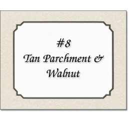 Mat 8 - Tan Parchment / Walnut