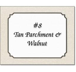 Mat 8 - Tan Parchment / Walnut