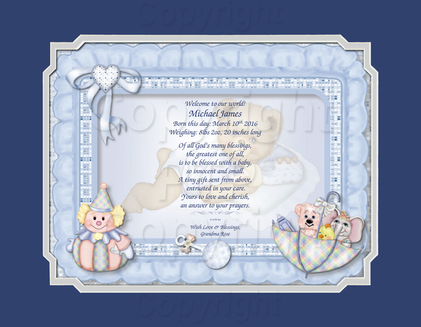 A Personalized Baby Boy Gift