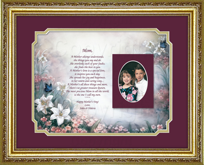 Mothers Gift with Poem and Photo Mat